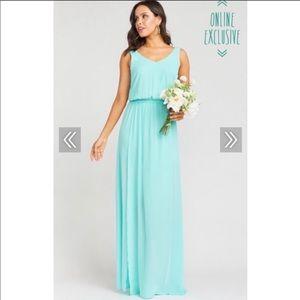 Show me your mumu sea glass dress